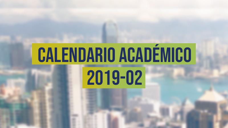 calendario académico 2019-02